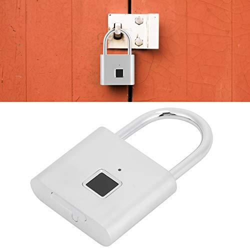 Smart Door Lock, Alloy Shell USB Powered Fingerprint Padlock for Home for Office for Cabinet