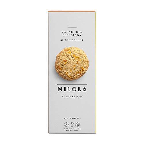 MILOLA Galletas Gluten Free. Pack 6 Cajas de 140gr   Sin Gluten, Sin Lácteos , Sin Aceite de Palma (SPICY CARROT)