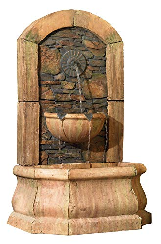 John Timberland Tuscan Village 50' High Faux Slate Floor Fountain