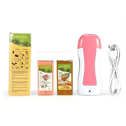 Roll-On Wax Heater - Calentador de cera eléctrico con cartucho de papel depilatorio para máquina de depilación del cabello Beauty Body Hair Removal (enchufe UE)