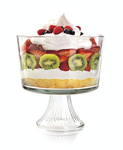 Anchor Hocking Monaco Footed Trifle Bowl with Stand, Crystal, Set of 1