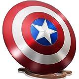 Capitán América Disfraz Escudo de Metal Aleación de Aluminio Con Poste de Madera Escudo Decoraciones Para Colgar en la Pared Adulto Uno 1: 1 Serie Legendaria Accesorios de Película 24 Pulgadas