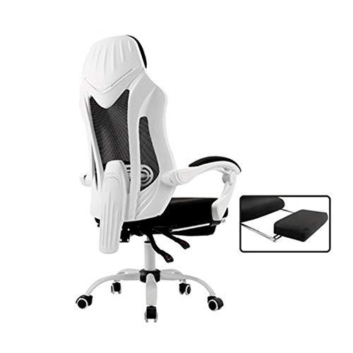 Presidente Ejecutivo del equipo Silla Silla comida en la oficina rotura silla de escritorio silla del jefe del ordenador hogar confortable largo que se sienta juego Butaca de juego respaldo reclinable
