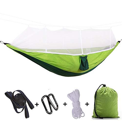 HYM Doppel Camping-Zelt mit Moskitonetz Hängematte 260x140cm (Color : A)