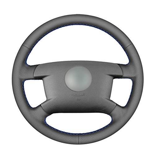 para VW Caddy 2003-2006 Caravelle 2003-2009 T5, Cubierta de Volante de Coche de Cuero Artificial PU