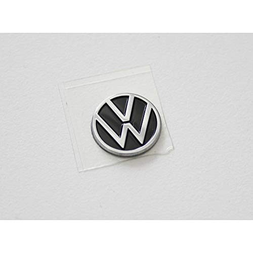 Volkswagen 5H0837891FOD Emblem Autoschlüssel Zündschlüssel Fernbedienung Plakette Aufkleber 10mm, mit neuem VW Logo