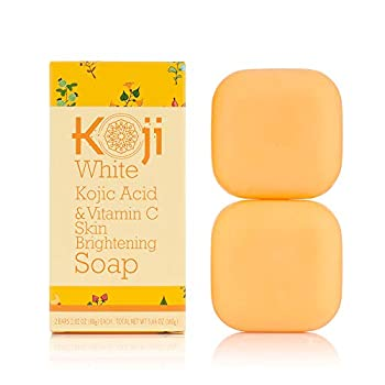 Koji White Kojic Acid & Vitamin C Skin Brightening Soap  2.82 oz / 2 Bars  - Smooth And Soft Complexion for Face & Body