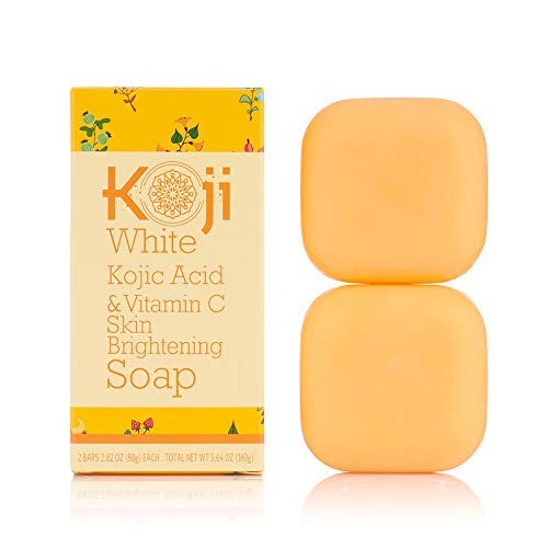 Koji White Kojic Acid & Vitamin C Skin Brightening Soap ( 2.82 oz / 2 Bars ) - Smooth And Soft Complexion for Face & Body