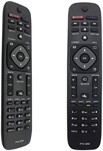 FOXRMT- Ersatz Universalfernbedienung Philips Passend für alle Fernbedienung Philips Smart TVs - Keine Einrichtung erforderlich Fernbedienung Universal Philips TV