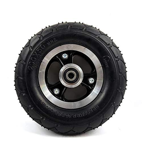 """200x50 Scooter Elettrico Ruota Solida No Air 8 Pollici Scooter Wheel con Cerchio in Lega di Gomma Solido 8\""""Trolley Caster No Need gonfia (Solid Wheel)"""