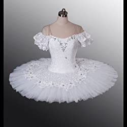 White Classical Professional Ballet Tutu Allonge for Competition & Performance