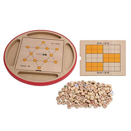 Fybida 5 en 1 Sudoku Tablero de ajedrez de Madera Multifuncional Juego de Rompecabezas de Juguete para niños Juego de Rompecabezas Educativo Juguetes de Juguete para Todas Las Edades