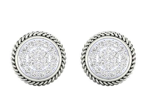 VVS IGI Certified 1,16 quilates Diamante Natural con 18 K Blanco/Amarillo/Oro Rosa Pendientes para Mujer