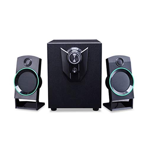 Computer mobiele telefoon laptop TV luidspreker audio subwoofer Active Audio 2.1 desktop muziekspeler zwart
