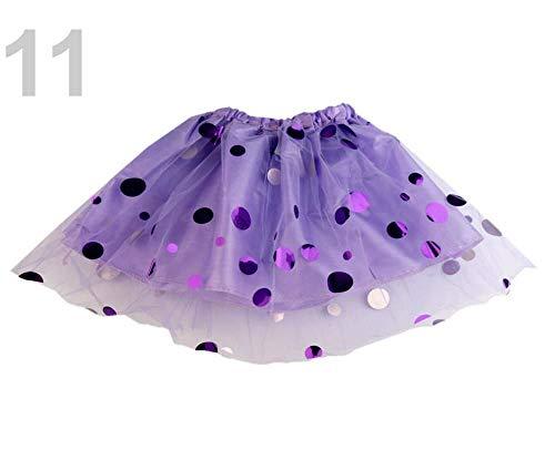 1pc Violeta Lavanda para Niños Carnaval Falda Reversible Con ...