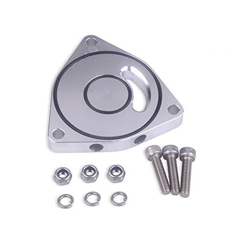 LIZHONGBAO Turbocompresor Espaciador BOV de aleación de Aluminio Negro/Plata para Hyundai Genesis Coupe y Kia 1.6 t 2.0 t para el Motor Honda Civic 1.5 T Turbina (Color : Silver)