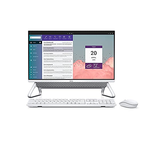 """Dell Inspiron 24"""" Touch Screen All-in-One Desktop, Intel Core i7-1165G7 up to 4.7GHz, 16GB DDR4, 256GB SSD + 1TB HDD, NVIDIA GeForce MX330, WiFi 6, Webcam, Windows 10 Home, TWE Mouse Pad"""