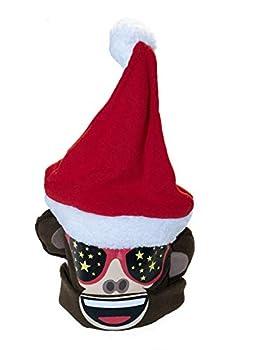 emoji Santa Monkey Christmas 3D Hat Girls 4-16