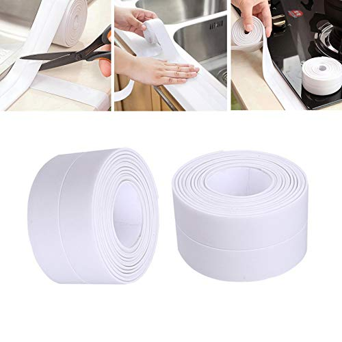 2 Pack Bathroom Sealant, PE Flexible Self Adhesive Tape...