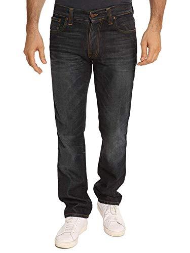 NUDIE JEANS – Jeans da uomo – blu inverno shade Slim Cut Jim – 32 | 32