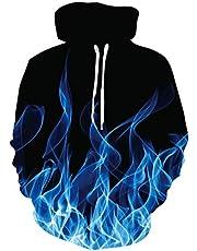 Spreadhoodie Unisex 3D hoodie heren dames capuchon lange mouwen drawstring pullover sweatshirt met tas S-3XL