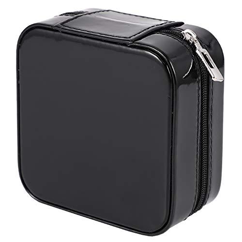 Uniquk Caja de Joyería Portátil Organizador de Almacenamiento con Cremallera Portátil Estuche de Viaje para Mujer