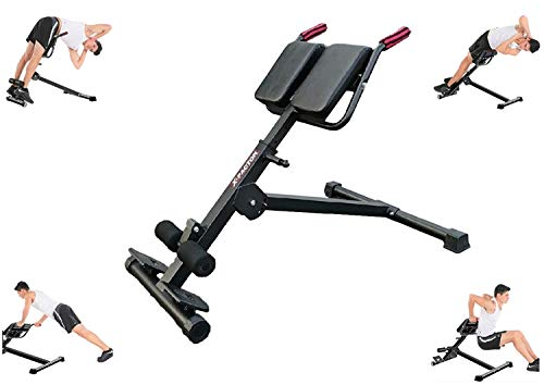 X-Factor Roman Chair Hyper Bench Hyper Extension Bench Full Body Exercise Adjustable Home Gym - AB Sit Up Bench Abdominal Strength Training Body Leg Workout