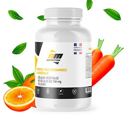 Perfect MultiVitamines & Minéraux • 90 gélules • Formes bio-disponibles • Vitamines A, C, D, E, B1, B2, B3, B6, B12, Potassium, Magnésium, Zinc • Sans OGM • Fabriquées en France • AM Nutrition