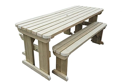 YEWS Garden Picnic Table and Benches Set