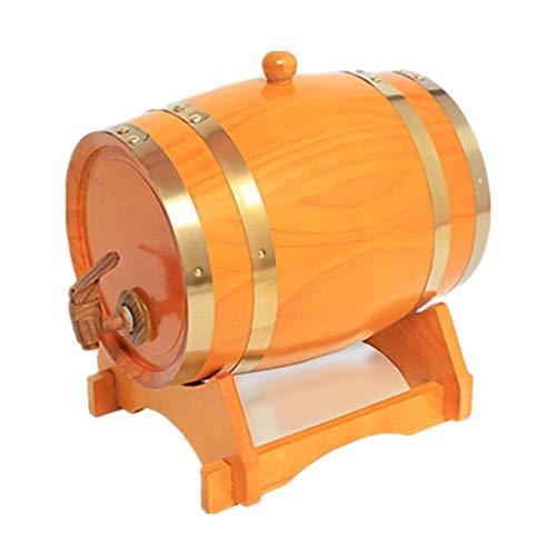 Cubo de Envejecimiento de Roble Cubo de Whisky de 10 litros Adecuado para Almacenar Ron de Cerveza de Whisky Forro de Papel de Aluminio Incorporado (Color : Yellow, Size : 10L)
