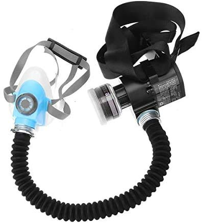 New Full Face Gas Mask Electric Constant Flow Supplied Air Fed Respirator System