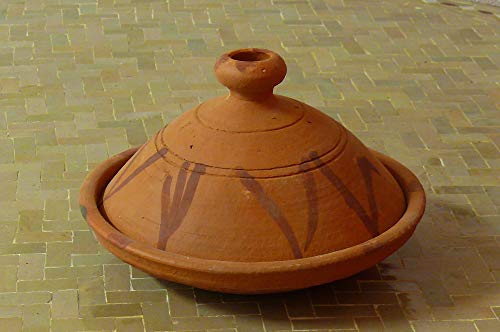 Marokkanische Tajine zum Kochen unglasiert Ø 30 cm für 3-4 Personen - 905190-0001