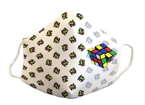 Mascarilla homologada reutilizable divertido diseño cubo rubik 3capas de protección lavable estampada los 80 coleccionista