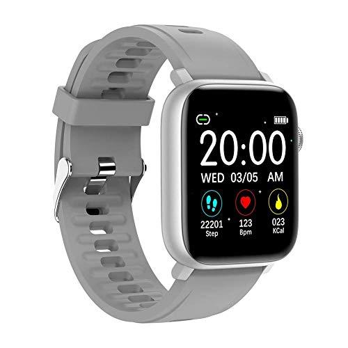ZHICHUAN Se02 Smart Watch, Ip68 Wasserdicht Mit Blutdruck Herzfrequenzmonitor Fitness Tracker Smartwatch, Für Android 5.0 Und Höher, Ios 8.0 Und Höher Exquisite/Silver gray