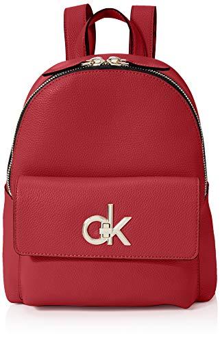Calvin Klein Re-lock Backpack - Borse a tracolla Donna, Rosso (Barn...