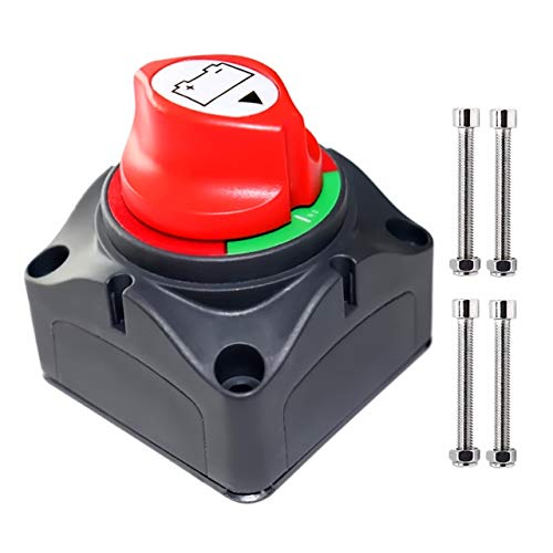 Battery Disconnect Switch Master, 12V-48V Waterproof Power Isolator On-Off Kill Switch 275Amps High Current for Car RV Marine Boat Truck ATV Vehicles