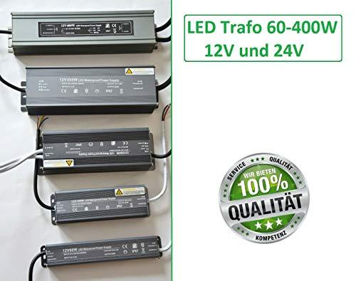 LED Trafo IP67 Netzteil Driver Treiber Transformator DC 12V 24V 60-400Watt Water (24 Volt, 300 Watt)