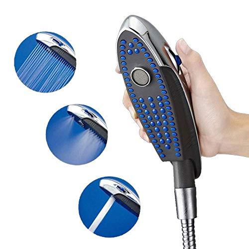 NBLYW 3 Spray Instellingen Hand Held Douchekop met 1,5 M Slang, Moderne Multifunctionele Bionische Dolfijn Ontwerp Regendouche, Eenvoudige Installatie - Milieuvriendelijk