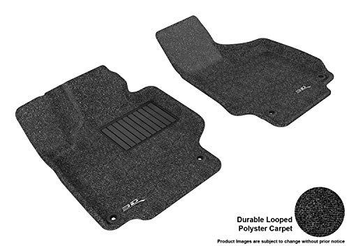 3D MAXpider Carpet Floor Mats for Audi TT/TTS 2008-2015 Custom Fit Car Floor Liners, Classic Series (1st Row, Black), L1AD02912209