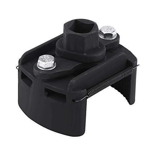 Llave de filtro de aceite - 1 PC de 60 mm-80 mm Llave de filtro de aceite de 2 mordazas ajustable Herramienta de eliminación de removedor de combustible Universal