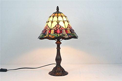 TOYM-Lámpara de vidrio decorativo Mediterráneo minimalista lámpara de cabecera del dormitorio artística luz de la noche de 10 pulgadas