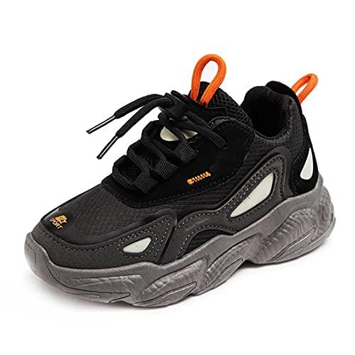 DEBAIJIA Scarpe da Bambini 3-10T Ragazza Sneakers Ragazzo Antiscivolo Casual Traspirante TPR Materiale 35 EU Nero