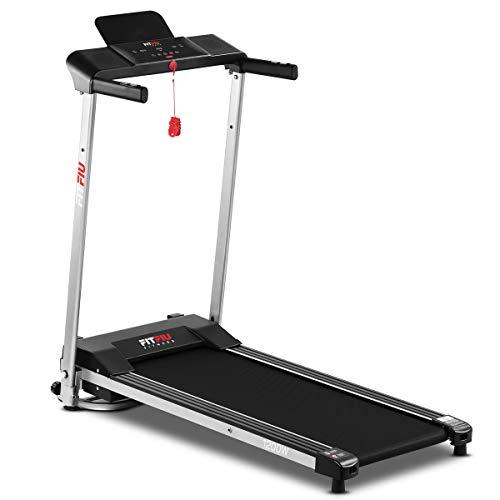 Fitfiu Fitness MC-160 Laufband, faltbar, ultrakompakt, Geschwindigkeit bis zu 10 km/h, Lauffläche 36 x 100 cm, Fitnessgerät 1200 W, 12 Trainingsprogramme und Pulsmesser