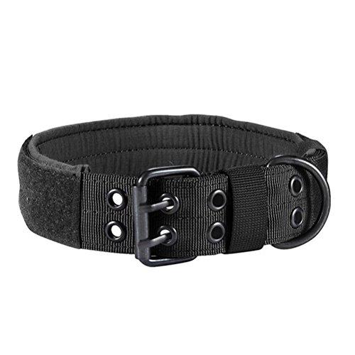 UKCOCO Collar Táctico Perro Nylon Collar Militar Entrenamiento Collar Ajustable para Pequeño Mediano Perro Grande con Hebilla de Metal
