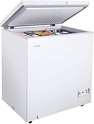 Chest Freezer, 5 Cu Ft Small Freezer 10.4? to -11.2?, with Removable Basket/7 Temperature Setting/Power Saving, White, for Home/Kitchen/Office/Bar - MPWCF053T