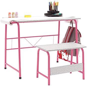 Studio Designs 2 Piece Project Center Art Desk and Bench