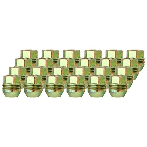 DPAccessories LOC2D8CZOGD05024 24 Dual Thread Wheel Lug Nuts M14x1.5 - Replaces Chevy/GMC # 9591772/99918.1 Wheel Lug Nut