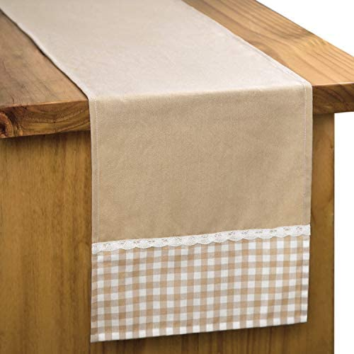 Letjolt Classical Table Runner with Check Ends Wedding Party Handmade British Style Family Dinner product image