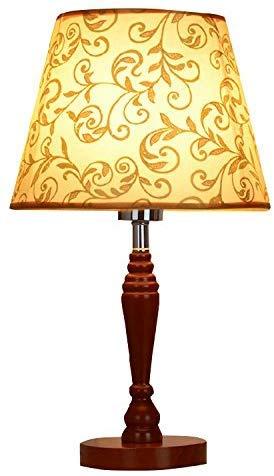 Tafellamp nachtlampje dressoir stof schaduw bureau lamp massief hout lamp voor slaapkamer woonkamer slaapzaal slaapzaal koffietafel - bruin