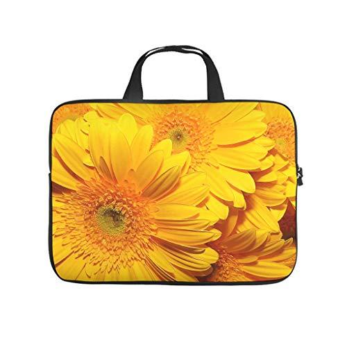 YiPong Sunflower Summer Flowers Laptop Sleeve Trendy Graphic Laptop Briefcase Dustproof Neoprene Laptop Storage Bag for Girls Boys White 17inch
